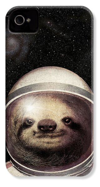 Space Sloth IPhone 4 / 4s Case by Eric Fan