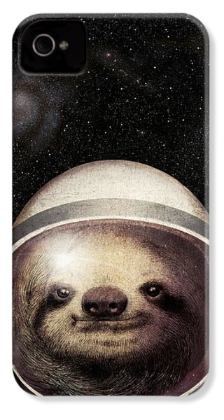 Space Sloth IPhone 4 Case by Eric Fan