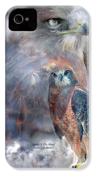 Spirit Of The Hawk IPhone 4 / 4s Case by Carol Cavalaris