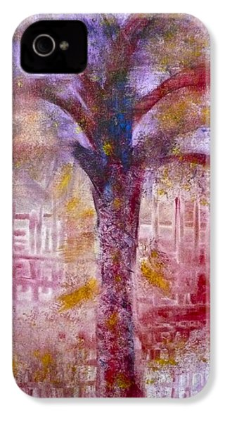 IPhone 4 Case featuring the painting Spirit Tree by Claire Bull