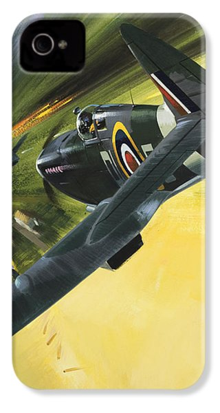Spitfire And Doodle Bug IPhone 4 Case by Wilf Hardy