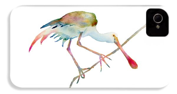 Spoonbill  IPhone 4 Case by Amy Kirkpatrick