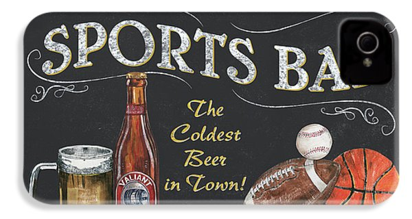 Sports Bar IPhone 4 Case by Debbie DeWitt