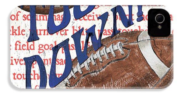 Sports Fan Football IPhone 4 Case by Debbie DeWitt