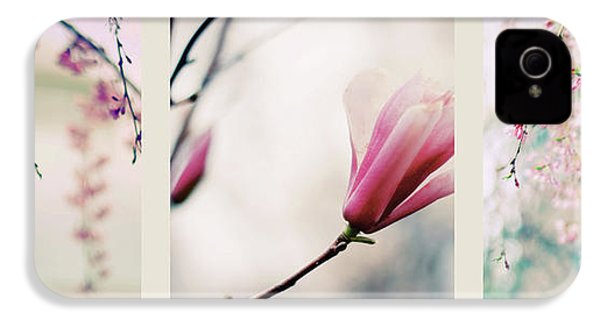 IPhone 4 Case featuring the photograph Spring Blossom Triptych by Jessica Jenney
