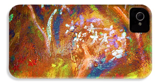 IPhone 4 Case featuring the painting Spring Blossom by Winsome Gunning