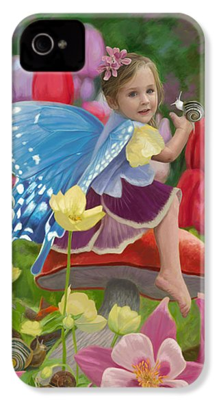 Spring Fairy IPhone 4 Case by Lucie Bilodeau