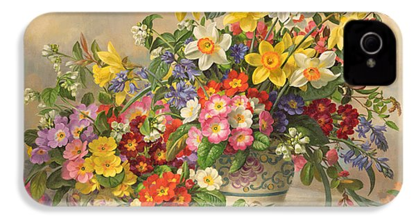 Spring Flowers And Poole Pottery IPhone 4 Case