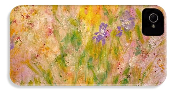 IPhone 4 Case featuring the painting Spring Meadow by Claire Bull