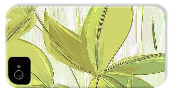 Spring Shades - Muted Green Art IPhone 4 Case by Lourry Legarde