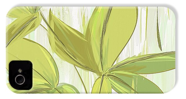 Spring Shades - Muted Green Art IPhone 4 Case
