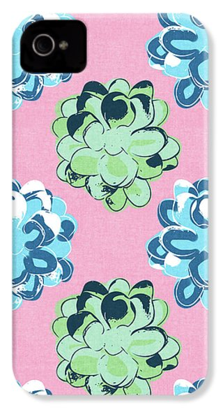 Spring Succulents- Art By Linda Woods IPhone 4 / 4s Case by Linda Woods