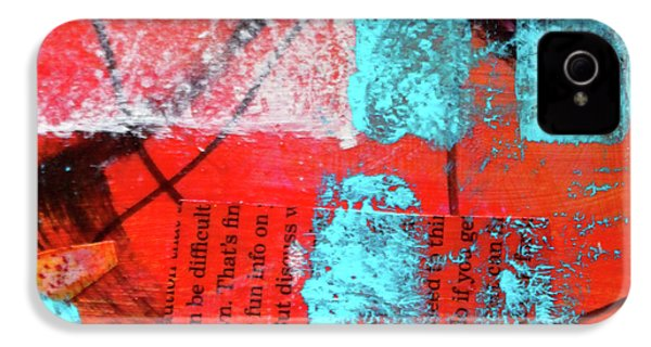 IPhone 4 Case featuring the mixed media Square Collage No. 10 by Nancy Merkle