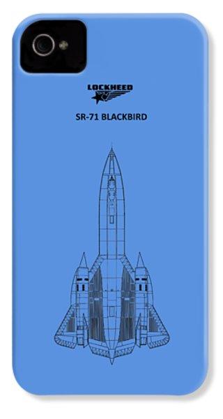 Sr-71 Blackbird IPhone 4 Case by Mark Rogan