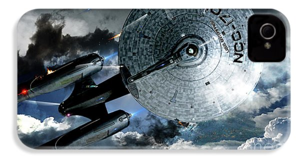 Star Trek Into Darkness, Original Mixed Media IPhone 4 Case by Thomas Pollart