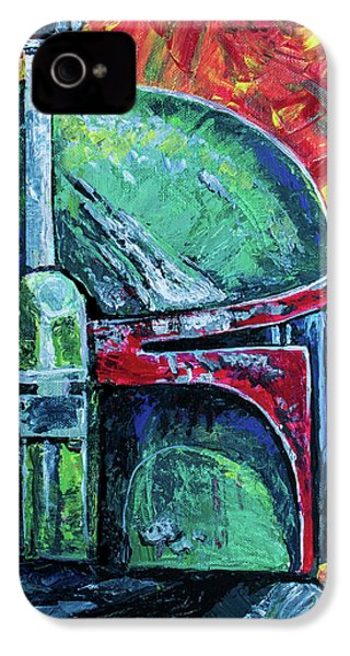 IPhone 4 Case featuring the painting Star Wars Helmet Series - Boba Fett by Aaron Spong