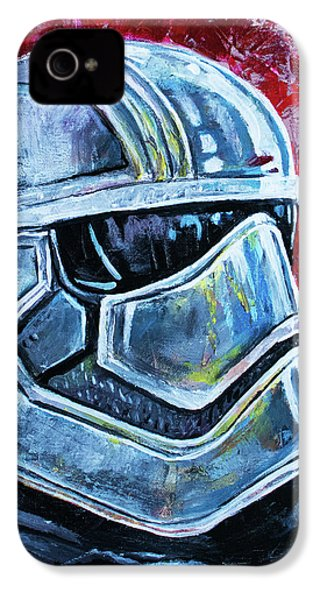IPhone 4 Case featuring the painting Star Wars Helmet Series - Captain Phasma by Aaron Spong