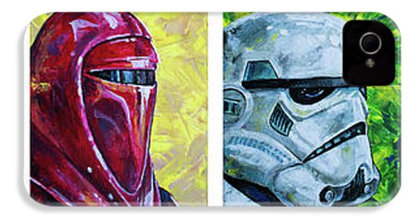 IPhone 4 Case featuring the painting Star Wars Helmet Series - Panorama by Aaron Spong