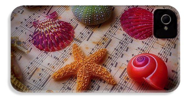 Starfish On Sheet Music IPhone 4 Case by Garry Gay
