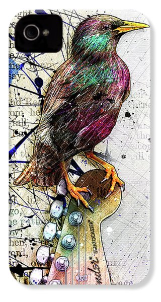 Starling On A Strat IPhone 4 Case by Gary Bodnar