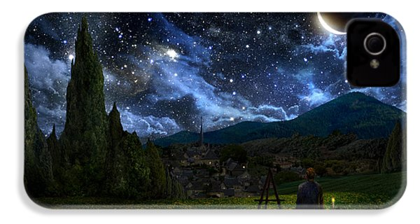Starry Night IPhone 4 Case by Alex Ruiz