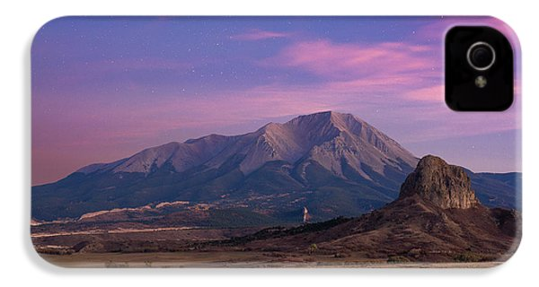 IPhone 4 Case featuring the photograph Starry Sunset Over West Spanish Peak by Aaron Spong