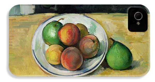Still Life With A Peach And Two Green Pears IPhone 4 Case by Paul Cezanne