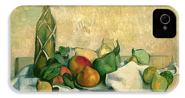 Still Life With Bottle Of Liqueur IPhone 4 Case by Paul Cezanne