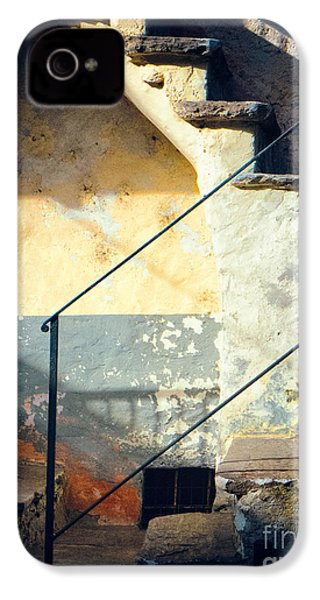 IPhone 4 Case featuring the photograph Stone Steps Outside An Old House by Silvia Ganora