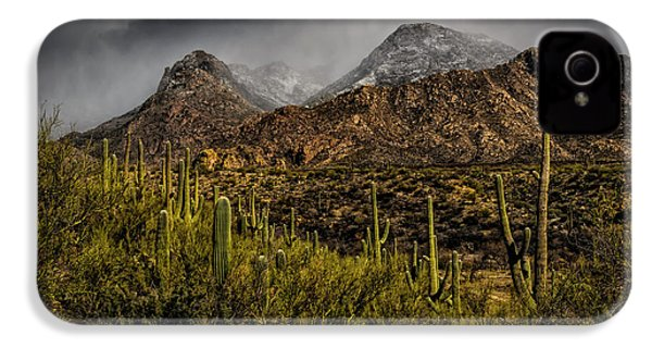 Storm Over Catalinas 15 IPhone 4 Case by Mark Myhaver