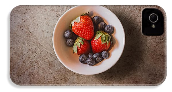 Strawberries And Blueberries IPhone 4 Case by Scott Norris