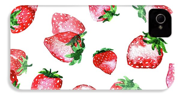 Strawberries IPhone 4 / 4s Case by Varpu Kronholm
