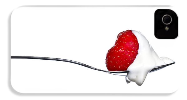 Strawberry And Cream IPhone 4 / 4s Case by Gert Lavsen