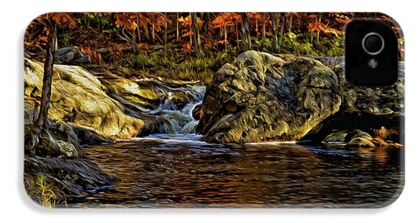 Stream In Autumn 57 In Oil IPhone 4 Case by Mark Myhaver