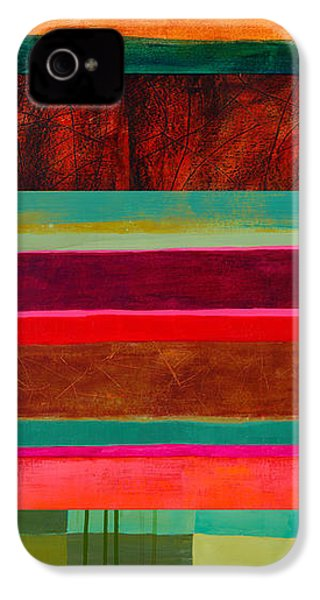 Stripe Assemblage 1 IPhone 4 / 4s Case by Jane Davies