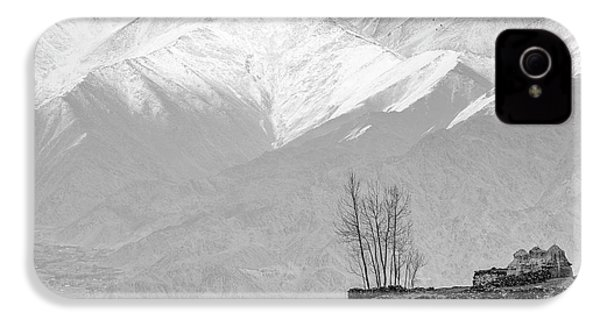 Stupa And Trees IPhone 4 Case by Hitendra SINKAR