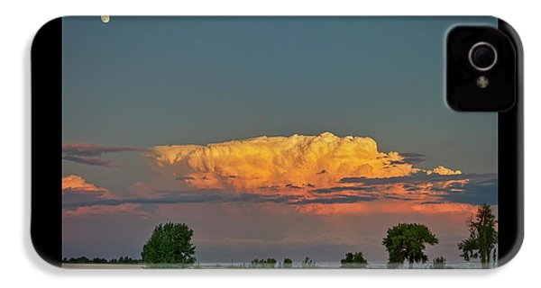 IPhone 4 Case featuring the photograph Summer Night Storms Brewing And Moon Above by James BO Insogna