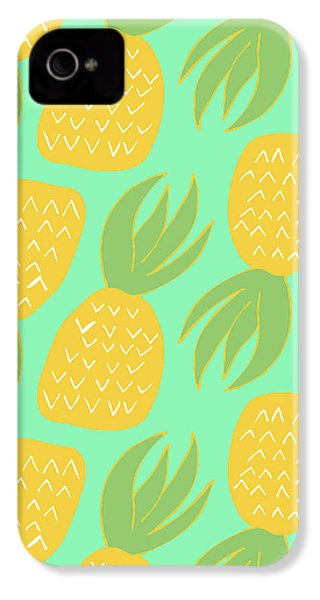 Summer Pineapples IPhone 4 / 4s Case by Allyson Johnson