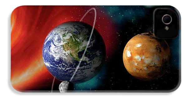 Sun And Planets IPhone 4 / 4s Case by Panoramic Images