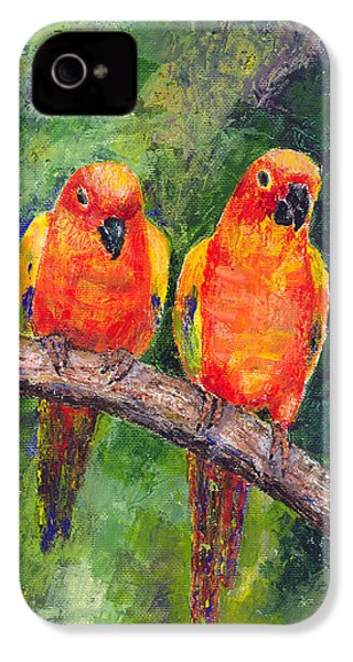 Sun Parakeets IPhone 4 / 4s Case by Arline Wagner