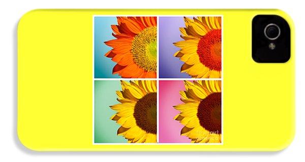 Sunflowers Collage IPhone 4 Case by Mark Ashkenazi