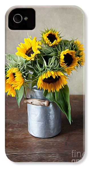 Sunflowers IPhone 4 Case by Nailia Schwarz