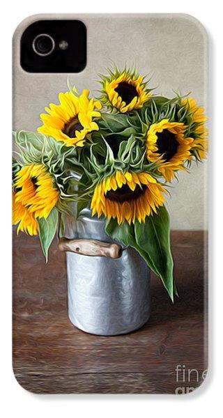 Sunflowers IPhone 4 / 4s Case by Nailia Schwarz