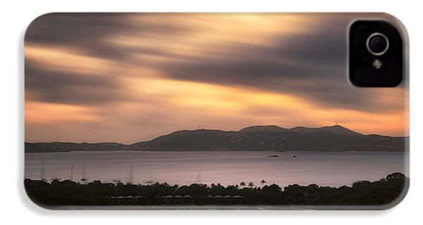 IPhone 4 Case featuring the photograph Sunset Over St. John And St. Thomas Panoramic by Adam Romanowicz