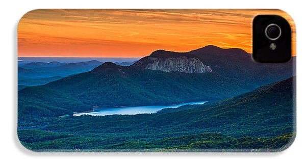Sunset Over Table Rock From Caesars Head State Park South Carolina IPhone 4 Case by T Lowry Wilson
