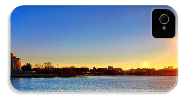 Sunset Over The Jefferson Memorial  IPhone 4 Case by Olivier Le Queinec