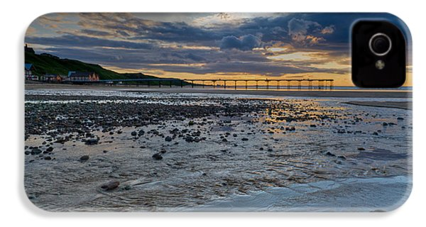 Sunset With Saltburn Pier IPhone 4 Case by Gary Eason