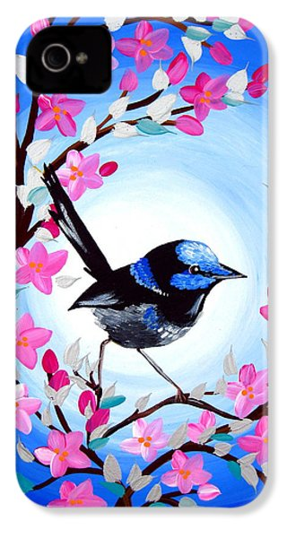 Superb Fairy Wren IPhone 4 Case by Cathy Jacobs