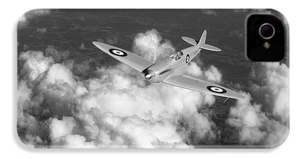IPhone 4 Case featuring the photograph Supermarine Spitfire Prototype K5054 Black And White Version by Gary Eason
