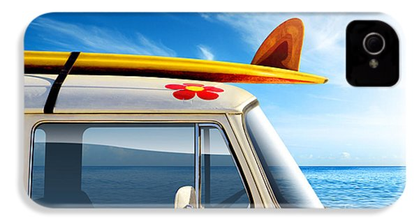 Surf Van IPhone 4 / 4s Case by Carlos Caetano